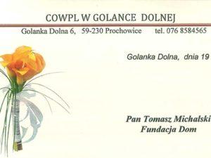 List z Golanki Dolnej