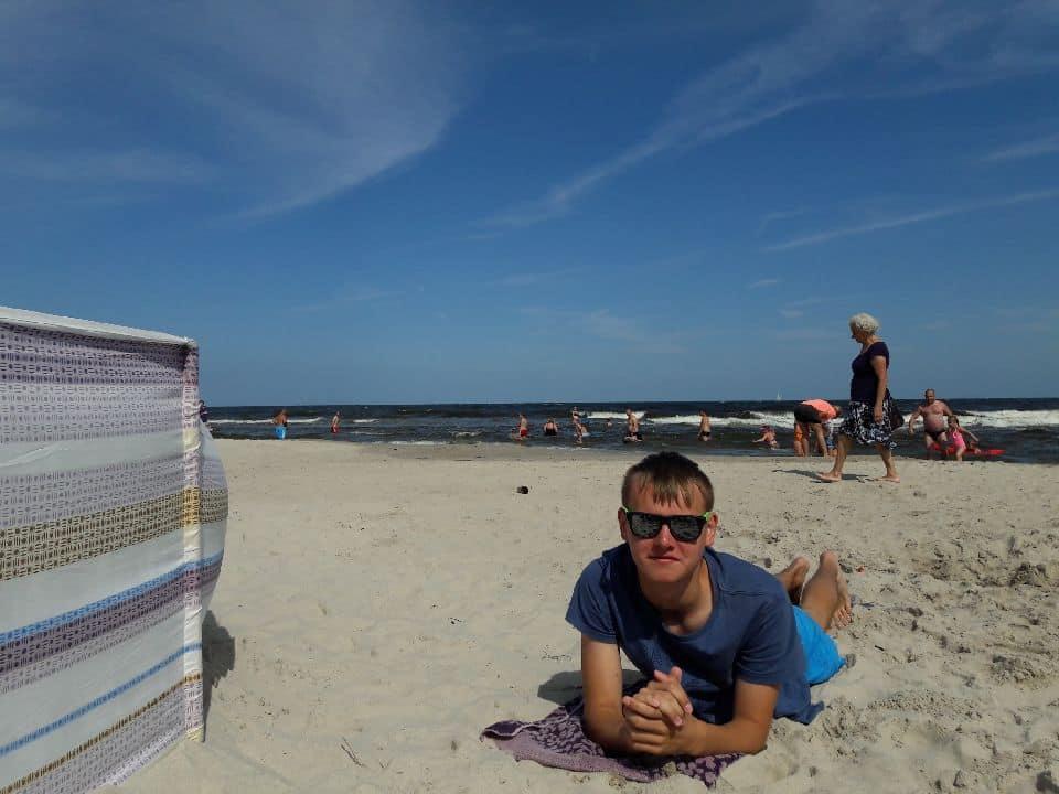 wakacje dzieci z domu dziecka, wakacje w niechorzu, pozdrowienia z wakacji